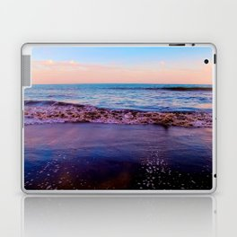 beach sunset with beautiful blue cloudy sky and blue wave in summer Laptop & iPad Skin