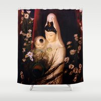 budi satria kwan Shower Curtains featuring Quan Yin/ Kwan Yin by Bella Mahri-PhotoArt By Tina
