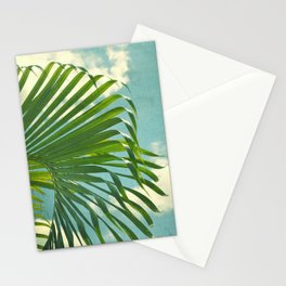 palm tree and clouds Stationery Cards