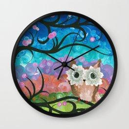 OwlArtwork By MiMi Stirn - Owl Expressions #360 Wall Clock