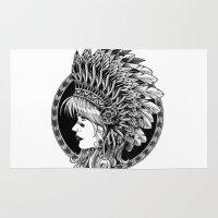 headdress Area & Throw Rugs featuring Headdress by BIOWORKZ