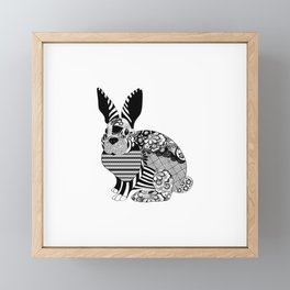 Rabbit floral Framed Mini Art Print