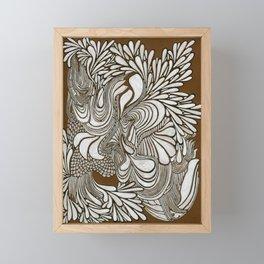 White Pattern Framed Mini Art Print