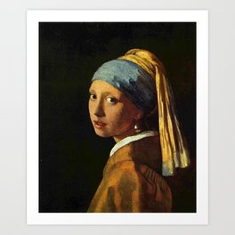 Vermeer Girl with a Pearl Earring Art Print