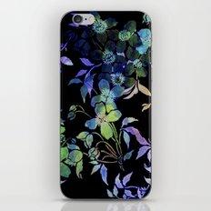 garland of flowers black version iPhone Skin