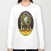 astrology Long Sleeve T-shirts featuring Leo Zodiac Sign Astrology by CAP Artwork & Design