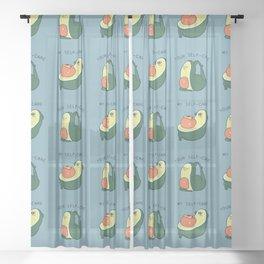 Self Care Avocado Sheer Curtain
