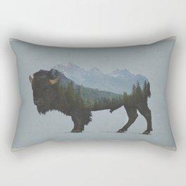 Wyoming Bison Flag Rectangular Pillow