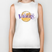 lakers Biker Tanks featuring L.A. Vaders by Ant Atomic