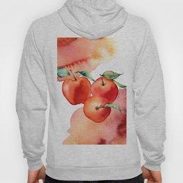 Apples. Watercolor Hoody