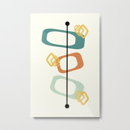 Mid Century Modern Shapes 02 Metal Print