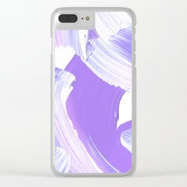 Shades of Purple Brush Stroke pattern #abstractart Clear iPhone Case