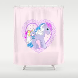 g1 my little pony sippin' soda Strawberry Scoops Shower Curtain