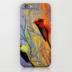 Birds on the birch tree Slim Case iPhone 6s