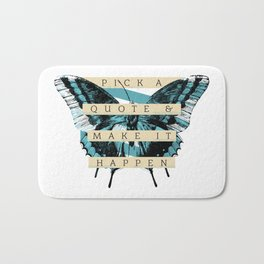Butterfly Quote Bath Mat
