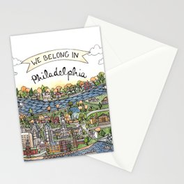 We Belong in Philadelphia! Stationery Cards