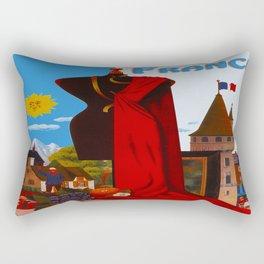 Vintage France Cityscape Travel Rectangular Pillow