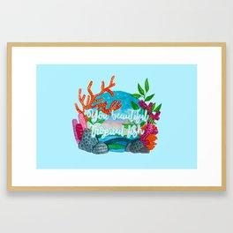 You beautiful, tropical fish Framed Art Print