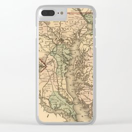Vintage Maryland Railroad Map (1876) Clear iPhone Case