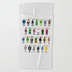 Pixel Supervillain Alphabet Beach Towel