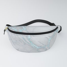 Marble Love Electric Blue Metallic Fanny Pack