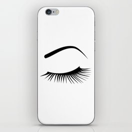 Closed Eyelashes Left Eye iPhone Skin