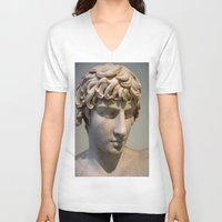 greece V-neck T-shirts featuring Classic. Greece. by Andrew Brown