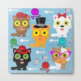 Cat's Meow Metal Print