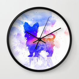 Yorkshire Terrier Art  Wall Clock