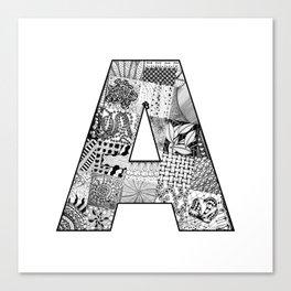 Cutout Letter A Canvas Print