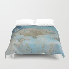 rough blue urban paint wall texture pattern Duvet Cover