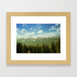 Summer mountain landscape Framed Art Print