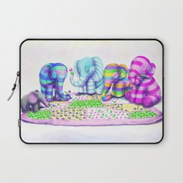Elephant's Brunch Laptop Sleeve
