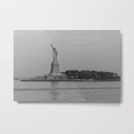 Statue of Liberty B&W Metal Print