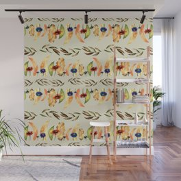 Autumnal Leaves Pattern 1 Wall Mural