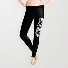 Eat Sleep Game Repeat | Video Game Console Gaming Leggings