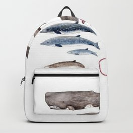 Deep sea whales Backpack
