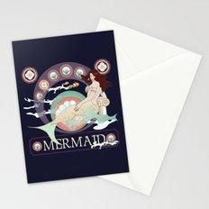 Art nouveau mermaid Stationery Cards