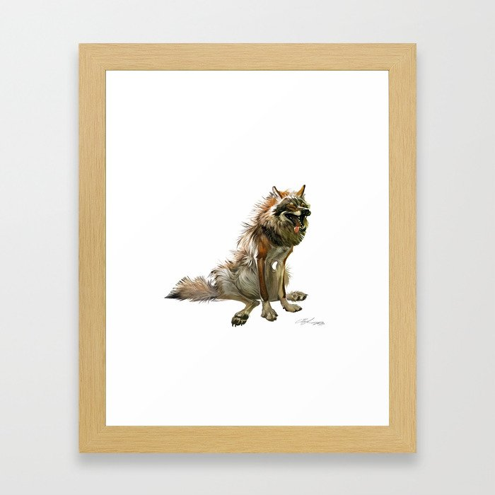 The wolf Framed Art Print