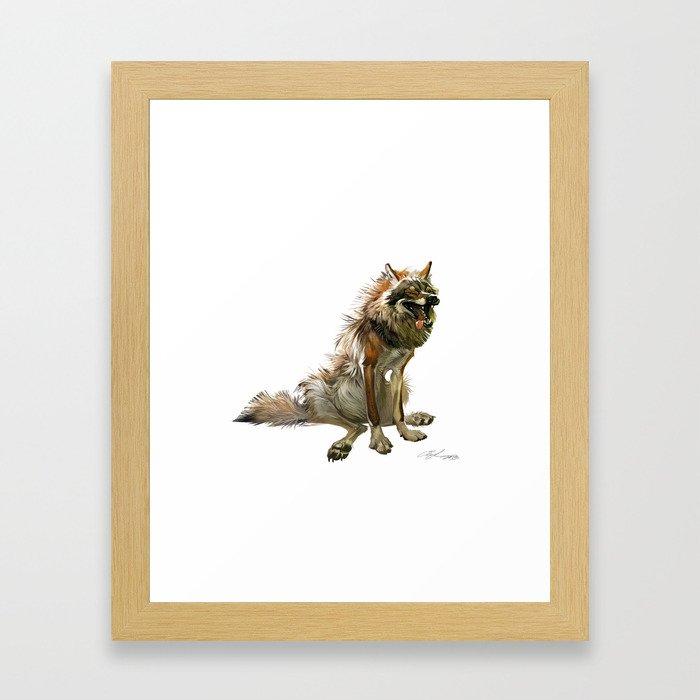 The wolf Framed Art Print