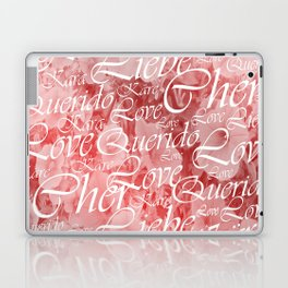 love, word, language, happy, design, graphic, message, text, greeting, multiple, symbol, valentine, Laptop & iPad Skin