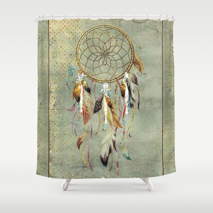 Dreamcatcher Shower Curtain By Christinamvanginkel