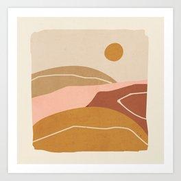 Minimal Abstract Art Landscape 3 Art Print