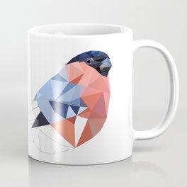 Geometric  bullfinch burd art Pink gray Coffee Mug