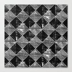 Chequers I Black Canvas Print