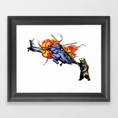 Bear vs. Apache Framed Art Print