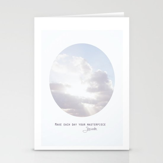 Make Each Day Your Masterpiece I Stationery Cards