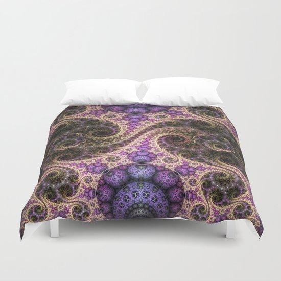 swirls, orbs and little flowers Duvet Cover