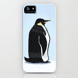 Sweater Weather Penguin iPhone Case