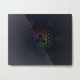 From the void full spectrum Metal Print